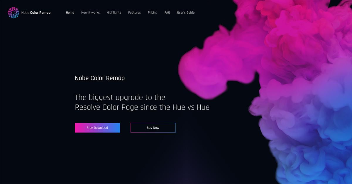 Nobe Color Remap plugin for DaVinci Resolve