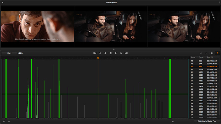 How to use DaVinci Resolve to detect cuts and split the