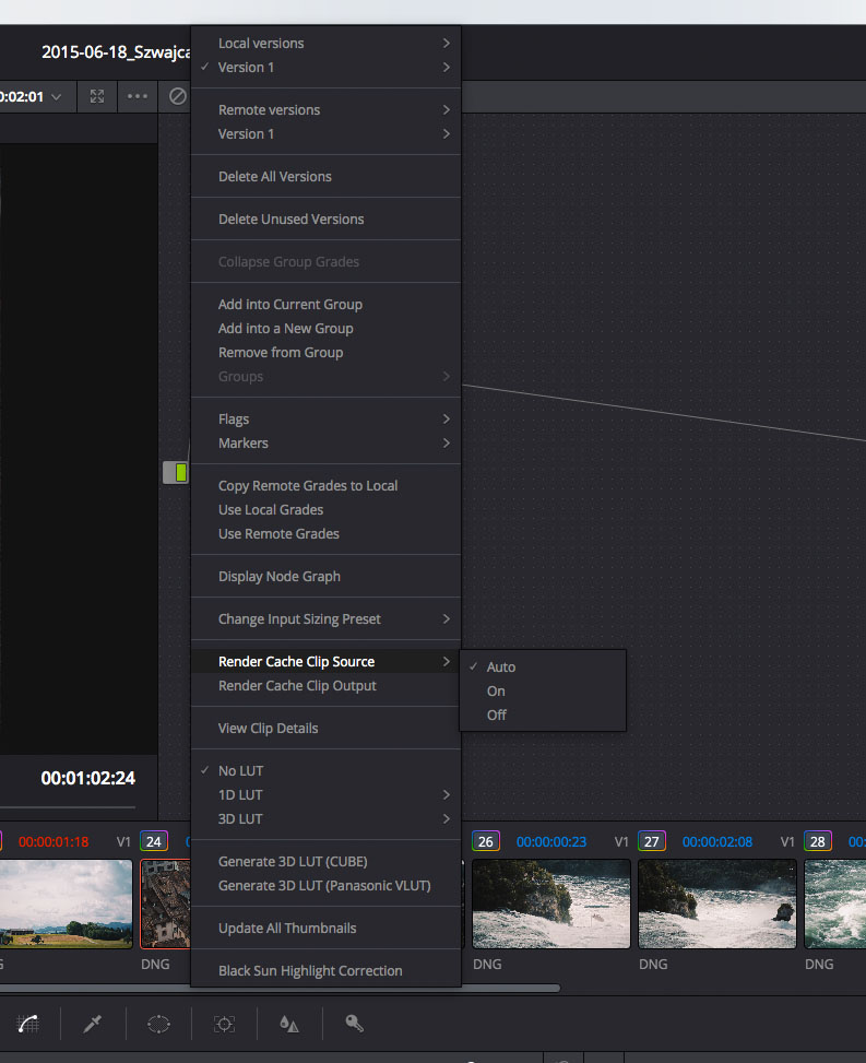 All you need to know about Caching in DaVinci Resolve 12 – Time in