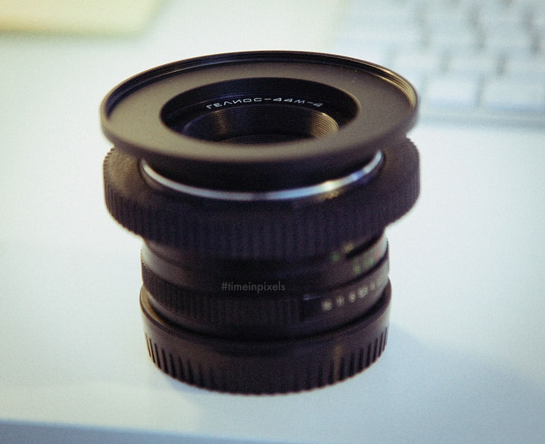 My Helios lens with step-up adapter from 52mm to 77mm