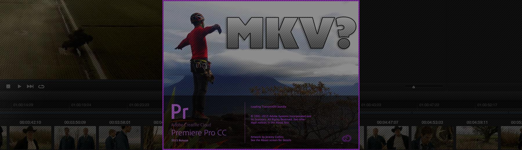 Using Matroska MKV clips in Premiere Pro