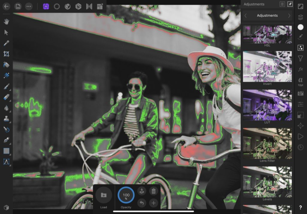 Analyze False Color on iPad with Affinity Photo – Time in Pixels